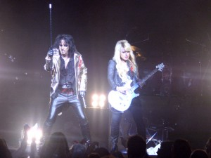 Orianthi with Alice Cooper
