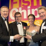 The Burton Road Chippy receive their Fish and Chip Feast Fundraiser Award | Photo: 3x1/Seafish