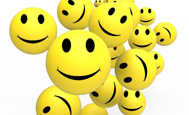 Smileys Show Happy Cheerful And Positive Faces